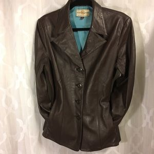 Wilson's Leather Blazer Style Jacket Brown